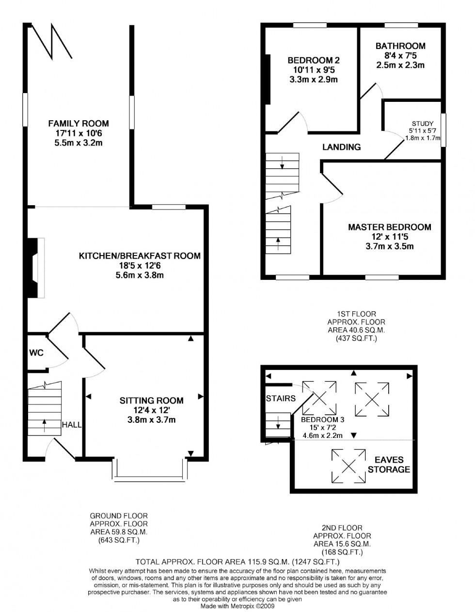 Floorplan for Wycliffe Avenue, Wilmslow, Cheshire