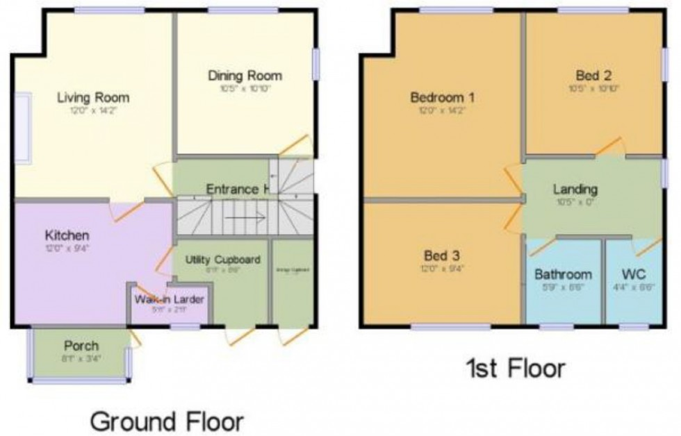 Floorplan for Crescent Road, Alderley Edge, Cheshire